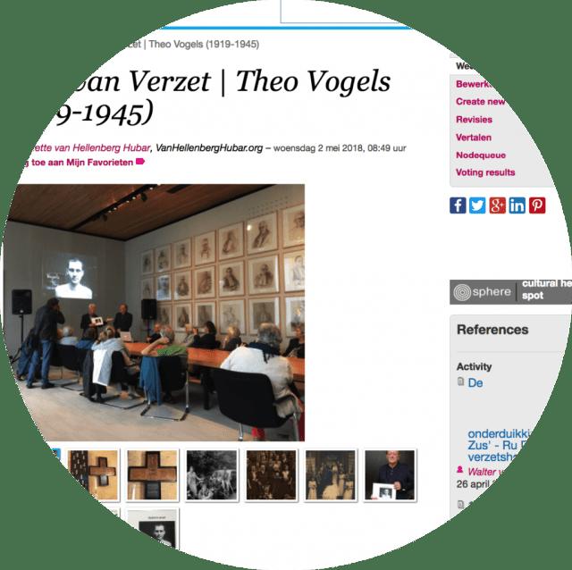 Het item over het boek van Joep Vogel over Theo Vogels op if then is now (http://bit.ly/2FF6QUy). Screenshot bvhh.nu 2018.