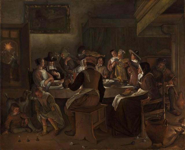 Jan Steen, Driekoningen (1662). Wikimedia, Boston Museum of Fine Arts.