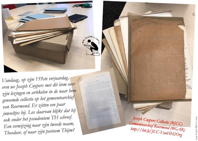 Joseph Cuypers 159 jaar. Collage en tekst bvhh.nu 2018-2020.