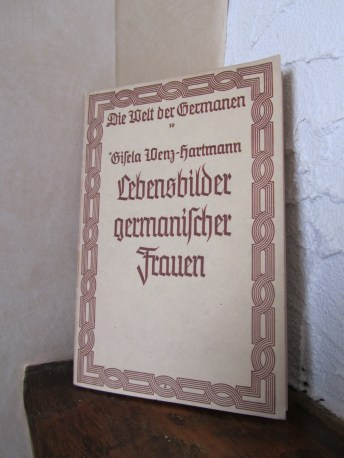 Cover of Gisela Wenz-Hartmann's book (1937).