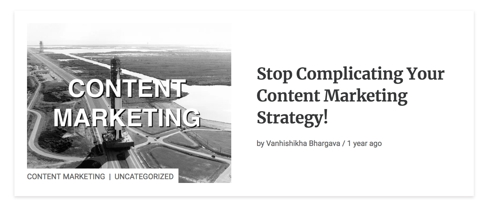 stop complicating your content marketing
