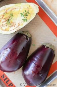 Roasted Eggplant and Quinoa Salad | VanillaAndBean.com