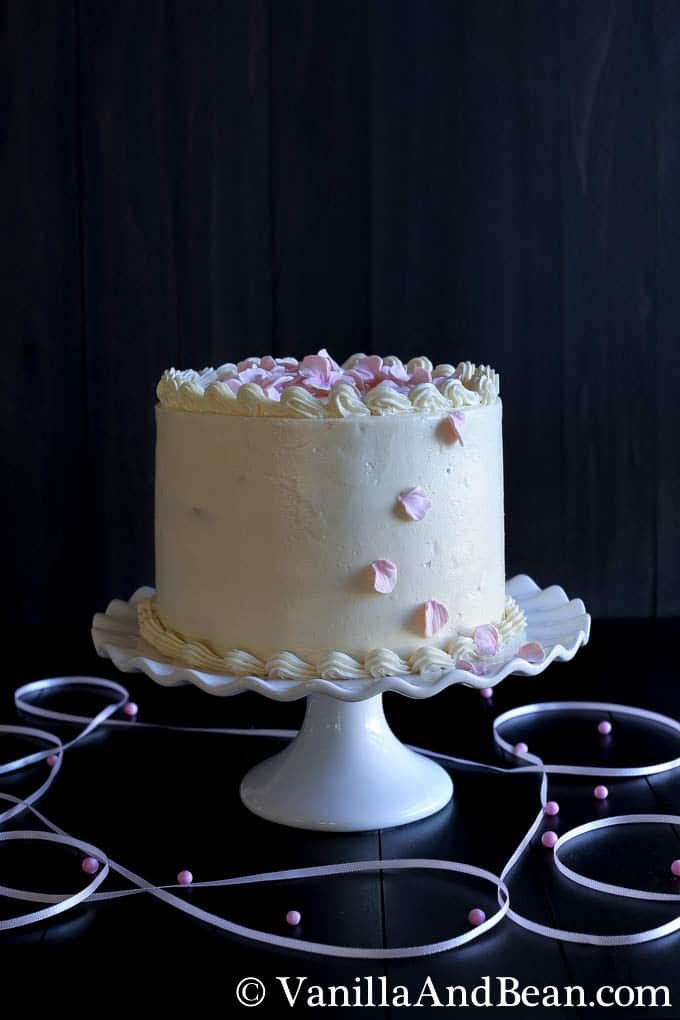 Hot Milk Cake with Lemon Curd and Italian Meringue Buttercream