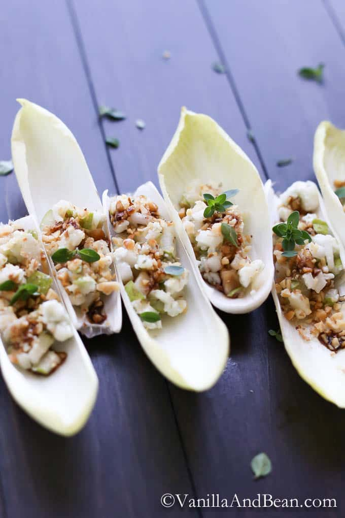Endive with Pear and Blue Cheese | Vanilla And Bean