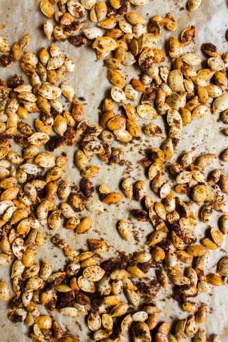 Homemade pumpkin seeds