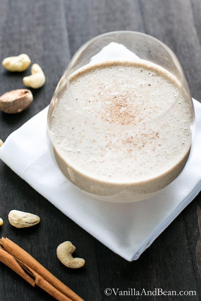 Vegan Nog Smoothie | Vanilla And Bean