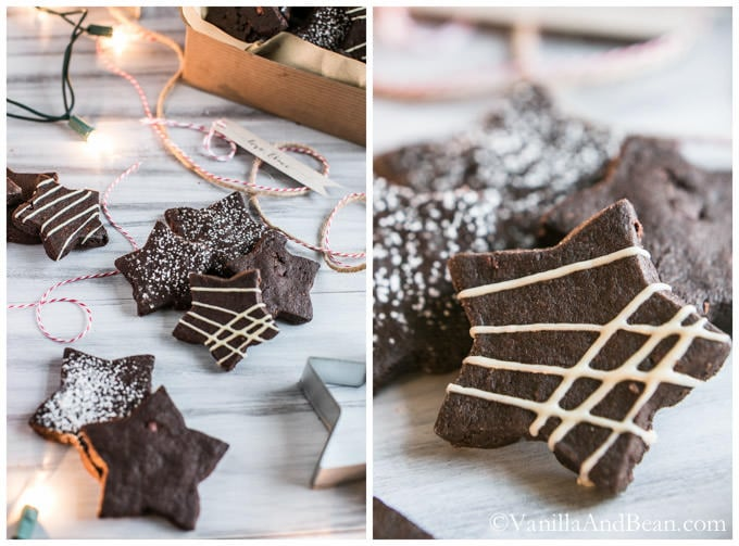 Dark Chocolate Cocoa Nib Shortbread Cookies | Vanilla And Bean