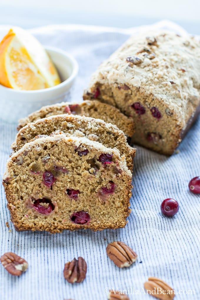 Cranberry Orange Bread with Pecans (Vegan)   Vanilla And Bean