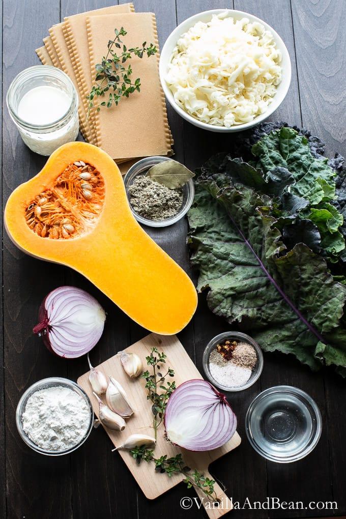 Butternut Squash and Kale Lasagna   Vanilla And Bean