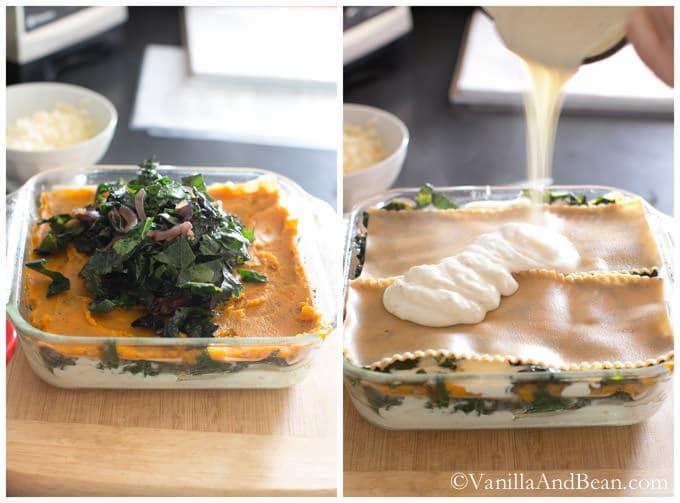 Butternut Squash and Kale Lasagna