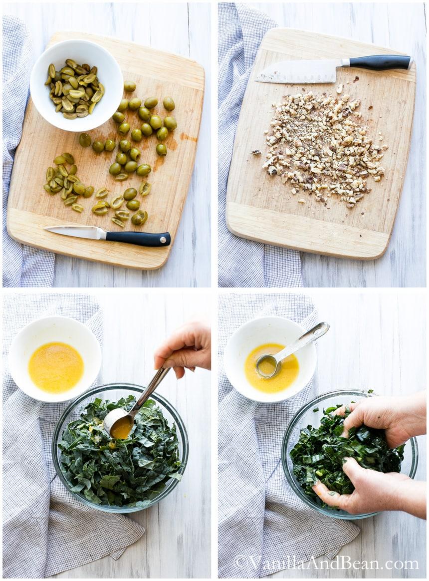 Farro, Kale and Olive Salad | Vanilla And Bean