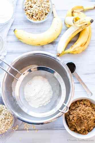 Sifting whole grain flour