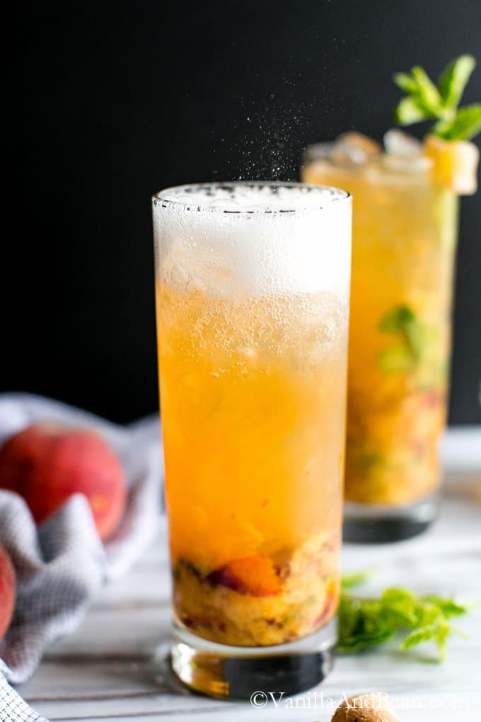 Fizzy Peach Bourbon