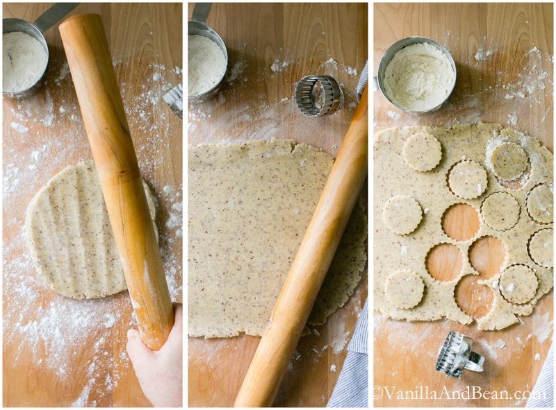 Hazelnut Shortbread with Salted Ganache Sandwich Cookies