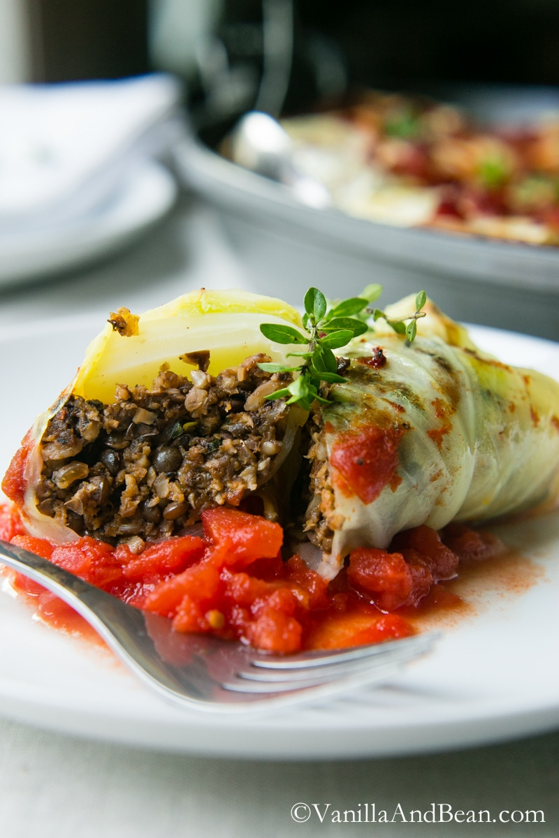 A flavor packed meal, these Mushroom Stuffed Cabbage Rolls are pure comfort for the coldest months of the year.   Vanilla And Bean