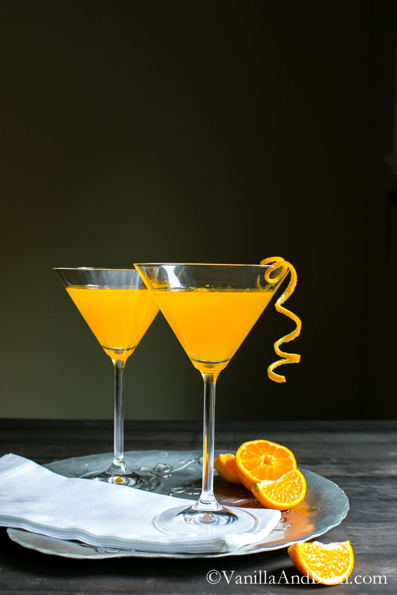 The three ingredient, fresh squeezed cocktail: Orange Drop   Vanilla And Bean