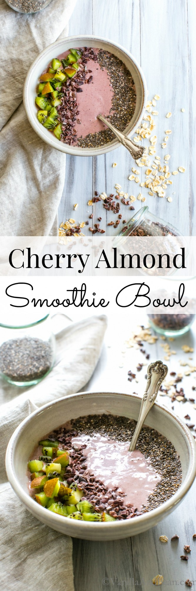 Cherry Almond Smoothie Bowl | Vegan + Gluten Free | Vanilla And Bean