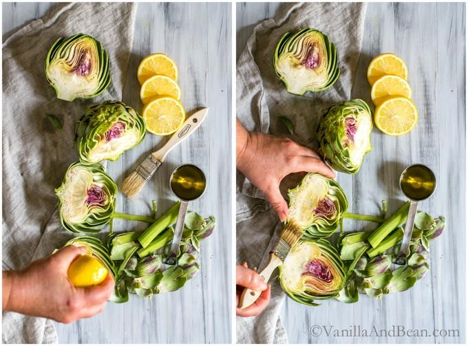 Roasted Artichokes with Curried Aioli   Vegan + GF   Vanilla And Bean