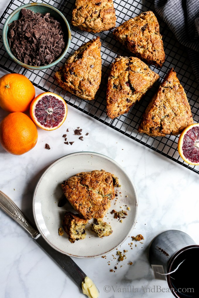Crunchy on the outside while tender on the inside. Blood Orange Chocolate Chunk Scones are easy to make and a delight during citrus season.