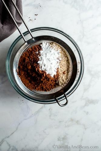 Chocolate Hazelnut Brownies are decadent, rich, fudgy, dark and oh so chocolatey. Vegan + Gluten Free + Grain Free