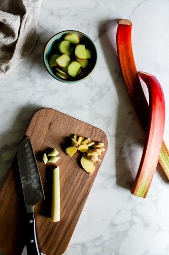Versatile, and simple Lemongrass-Ginger Rhubarb Syrup