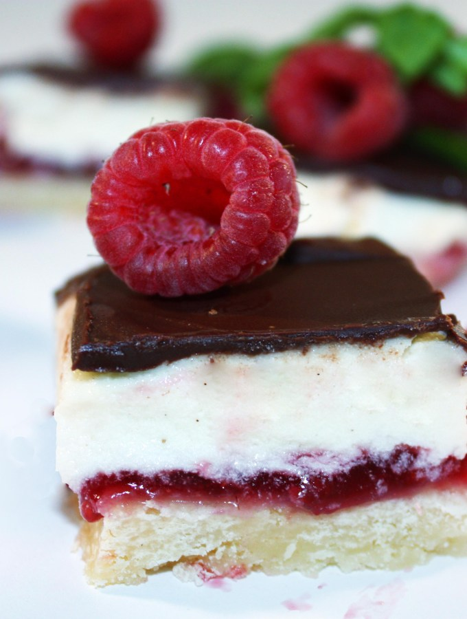 Raspberry-Coconut Slices