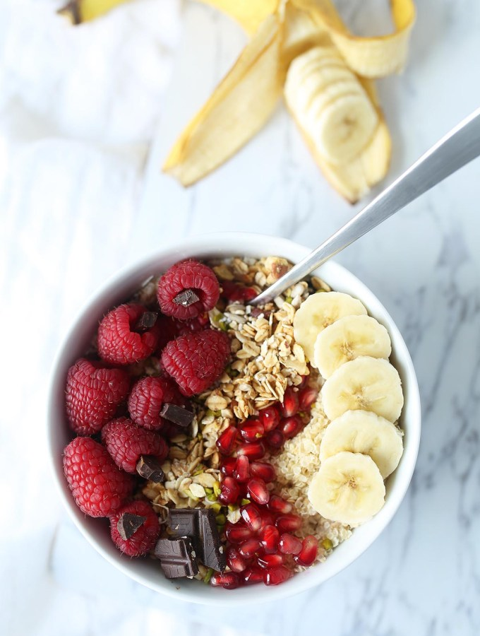 Overnight oatmeal with 20g of plant-based protein