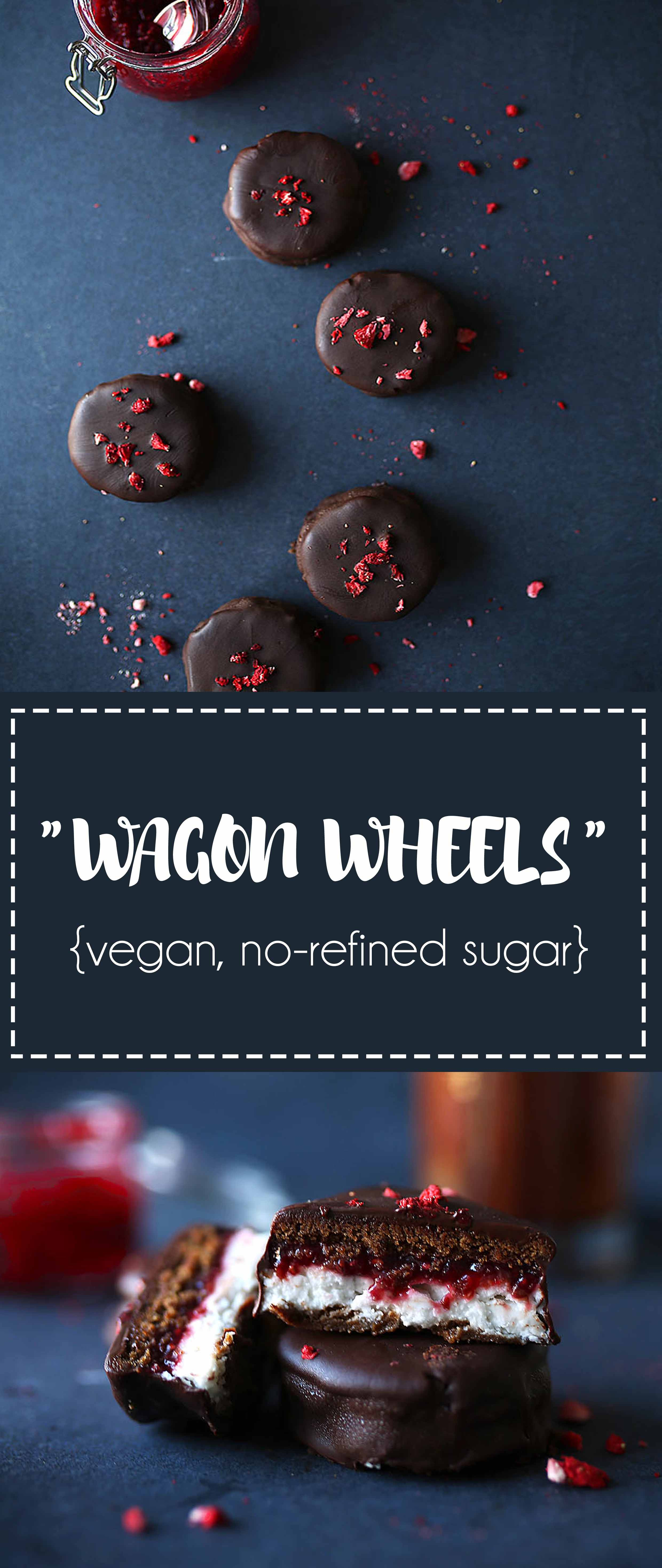 Vegan Wagon Wheels with Chia Jam