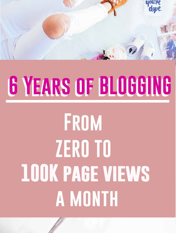 6 Years of Blogging – from zero to 100K page views a month