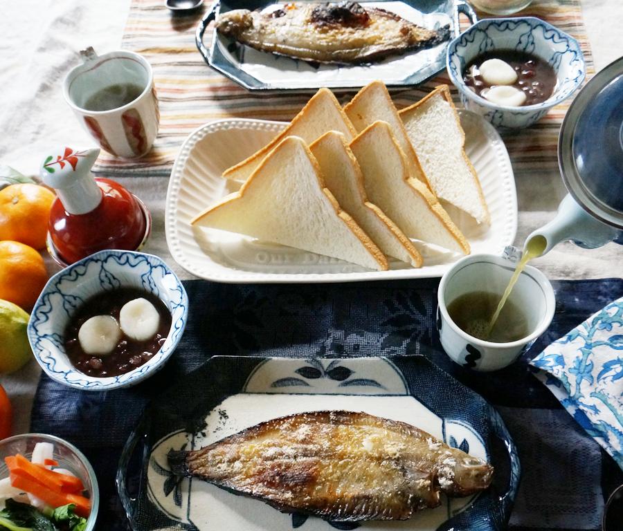 BREAKFAST bkf = grilled Yanagi Karei flounder