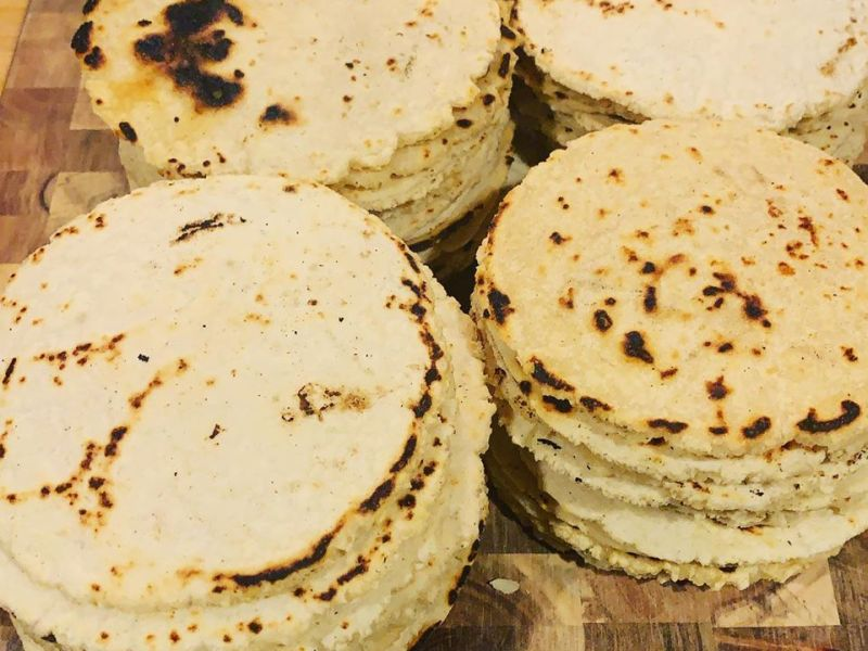 Homemade Bacon-Fat Corn Tortillas