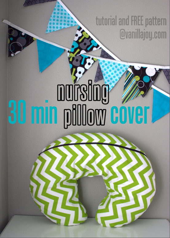 Nursing Pillow Cover : nursing, pillow, cover, Nursing, Pillow, Slipcover, Pattern, Tutorial
