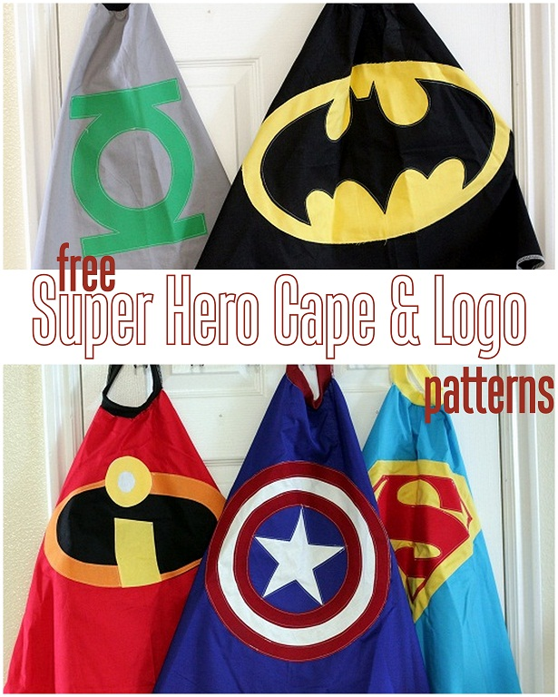 Kids Cape Pattern : pattern, Superhero, Pattern