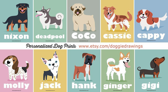 Personalised Dog Prints by Lili Chin