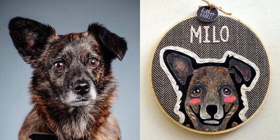 HitherRabbit Pet Portrait Embroidery