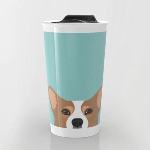 Society6 Corgi Travel Mug