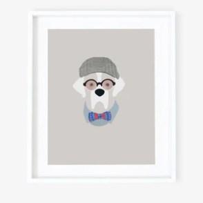 Woof Models Art Print