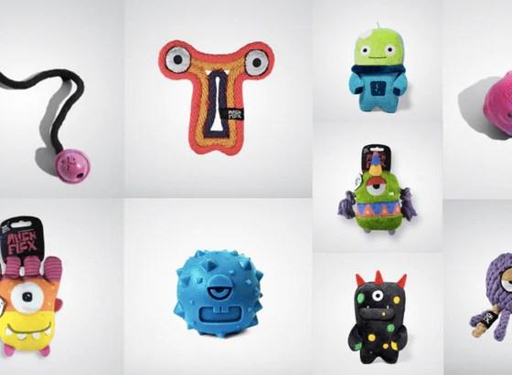 Alien Flex Dog Toys