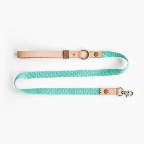 Ohpopdog natural leather and hemp cotton leash   Vanillapup