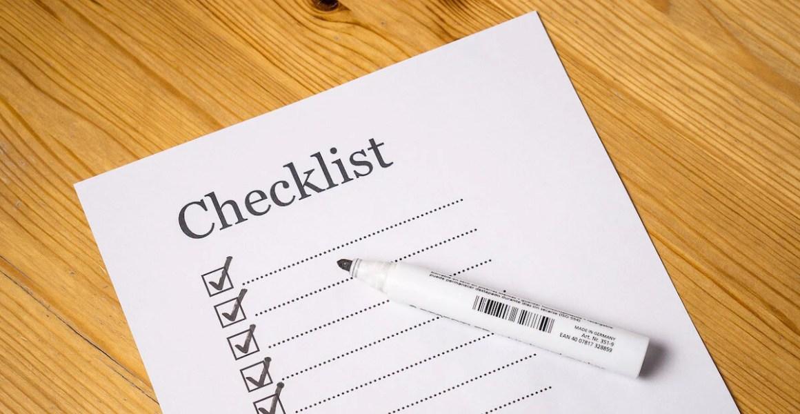 Checklist | Vanillapup