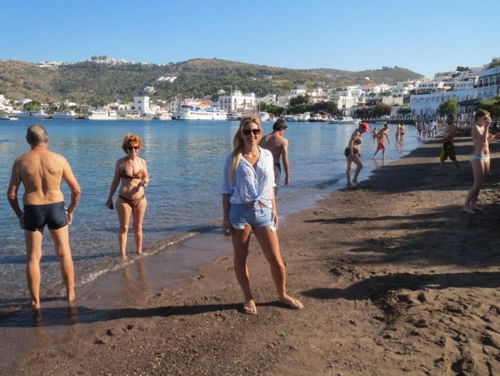 hofit kim cohen in Patmos beach