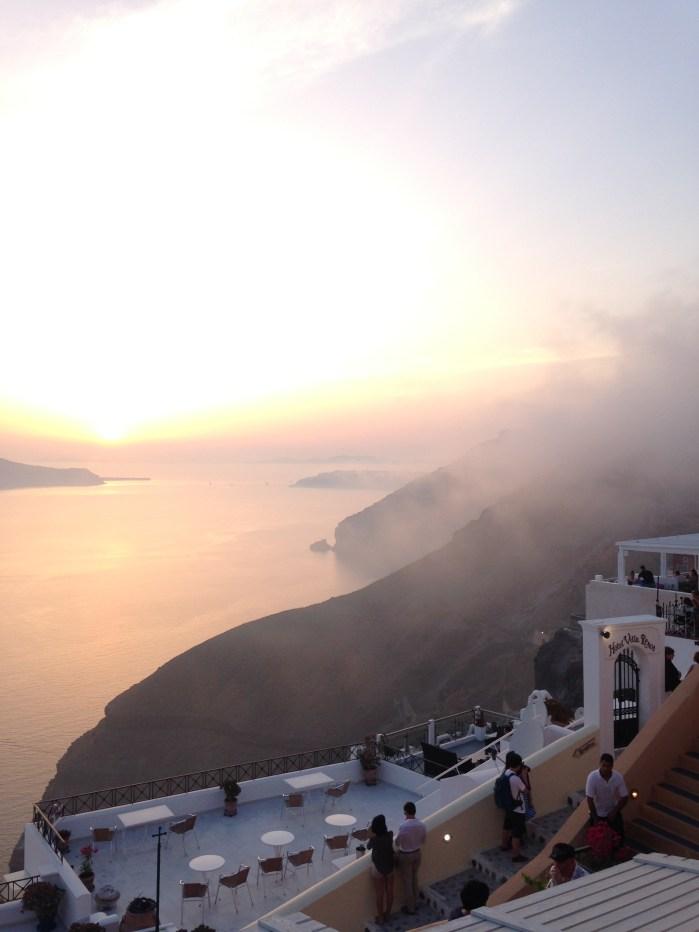 santorini sunset amazing