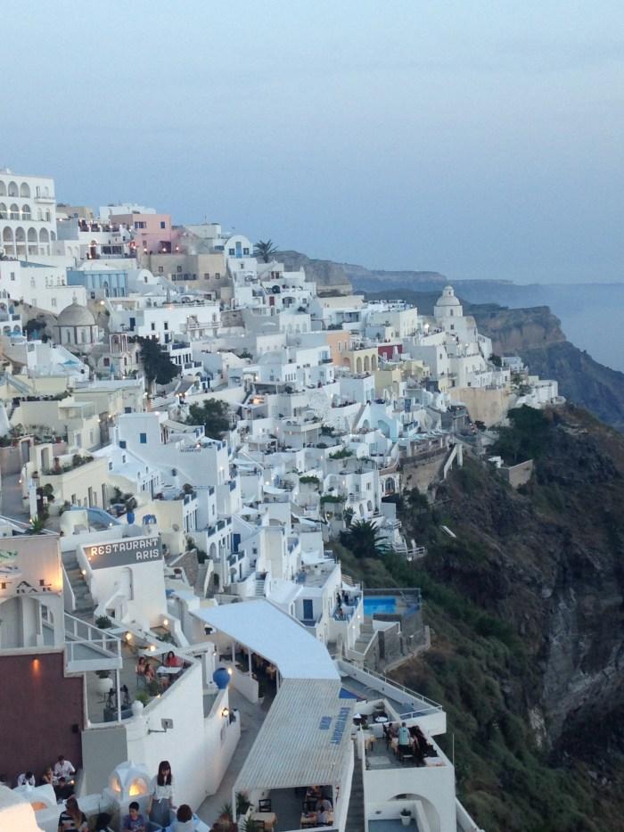 santorini fira greece view