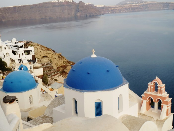 greece blue and white