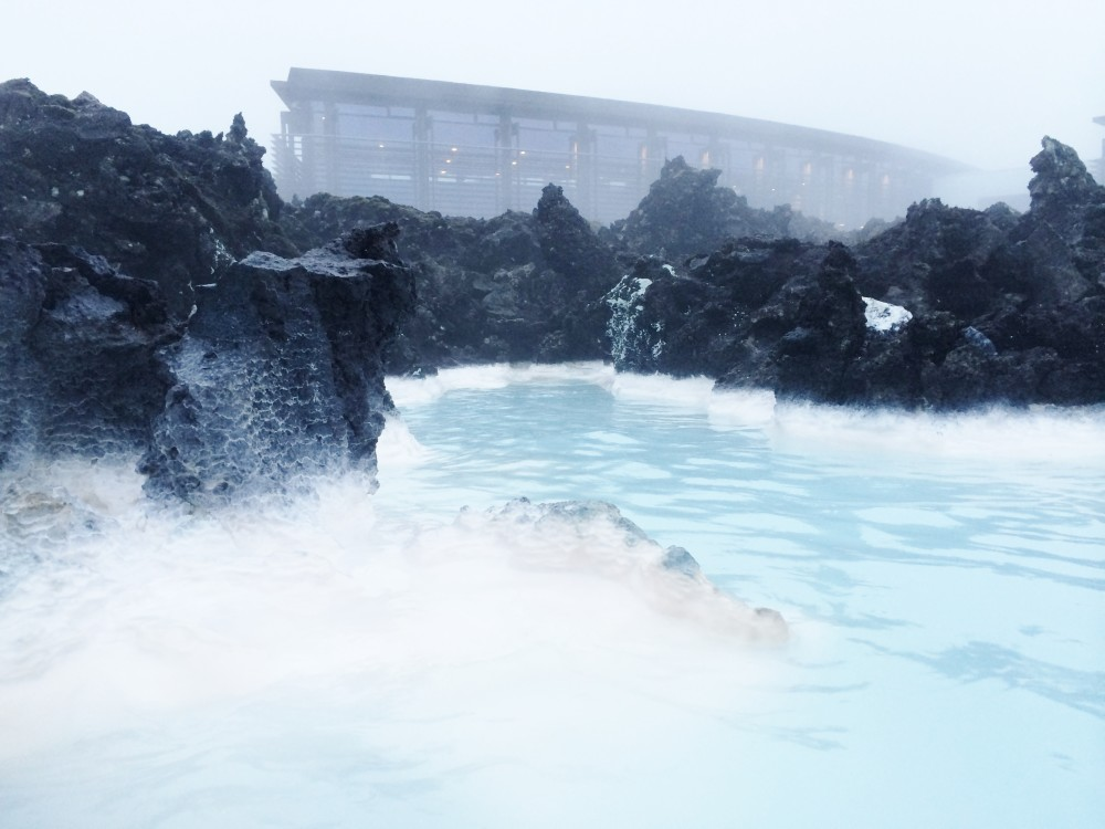 the blue lagoon water