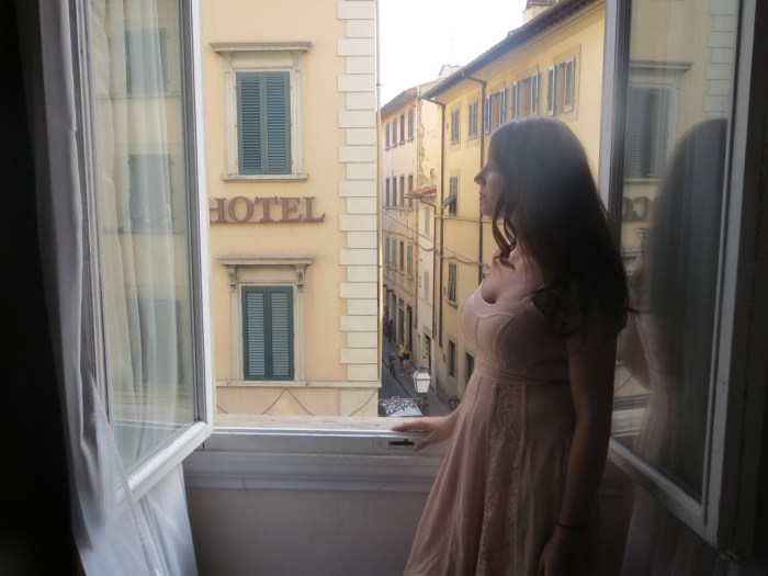 hofit kim cohen in Florence Italy hotel