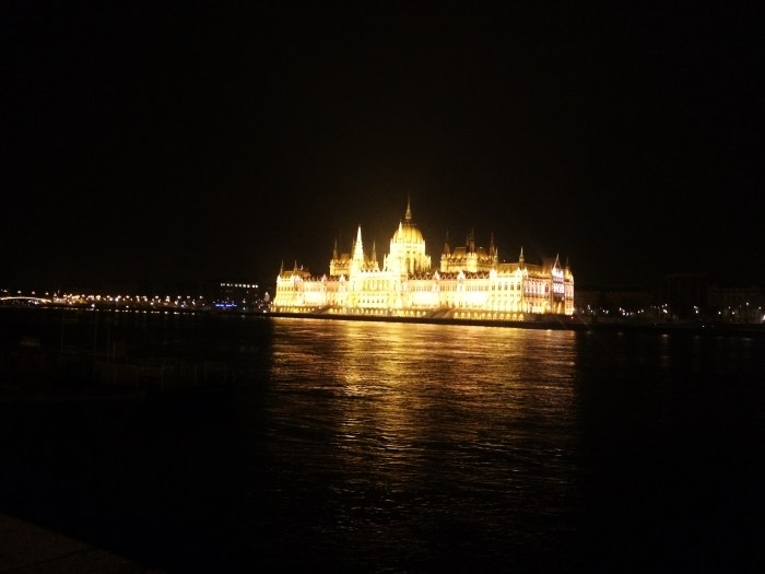 the Parliament building at night budapest