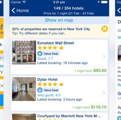 booking.com app