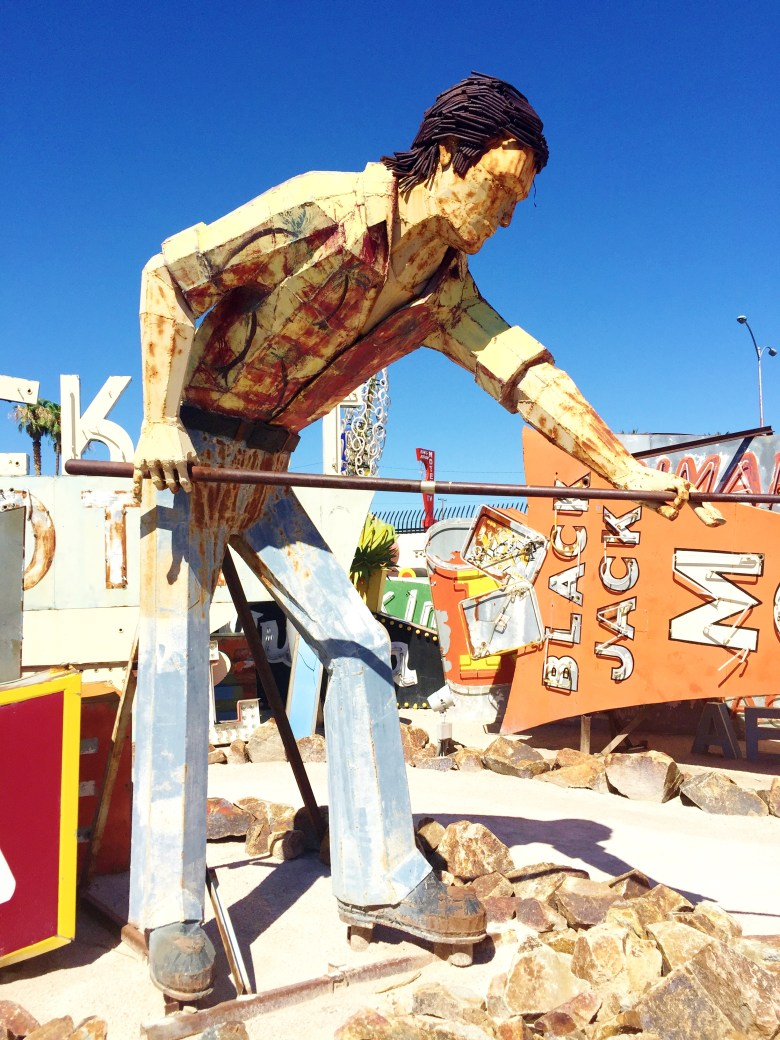 The Neon Museum man