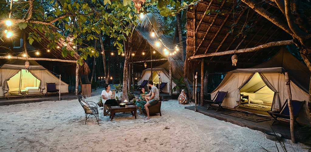 Glamping In Tulum Mexico Fancy Camping Deluxe Tent